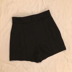 ZARA Black High Waisted Shorts w/ Pockets Size XS